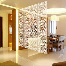 15pcs Modern Hanging Screen Butterfly Flower Hollow Curtain Room Divider Partition Home Christmas Decoration(China)