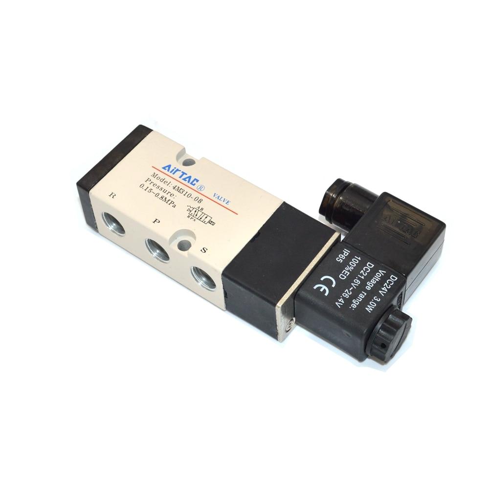 4M310-08 5 Ports 2 Position Double Solenoid Pneumatic Air Valve pc400 5 pc400lc 5 pc300lc 5 pc300 5 excavator hydraulic pump solenoid valve 708 23 18272 for komatsu