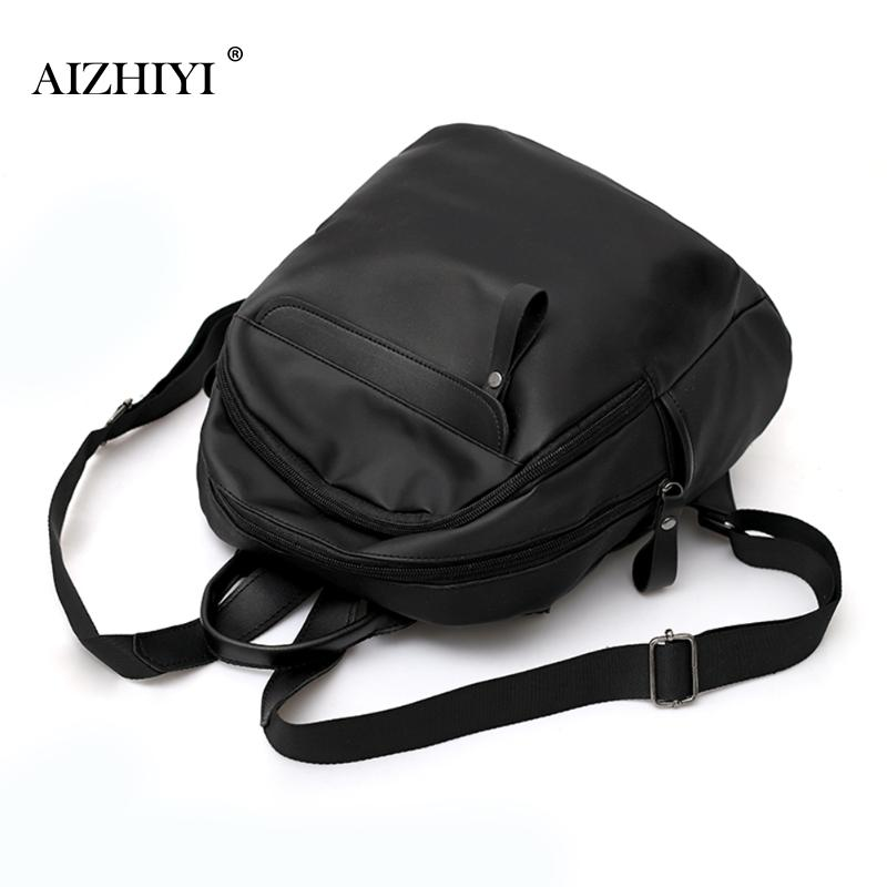 Simple Fashion Backpacks for Teenage Girls Womens PU Leather Backpack School Bag Casual Vintage Large Capacity Travel Backpack
