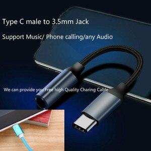 Image 2 - מתאם סוג C 3.5 שקע USB C כדי 3.5mm AUX אוזניות עם כבל טעינה עבור Huawei mate 20 P30 פרו שיאו mi mi 6 8 אודיו כבל