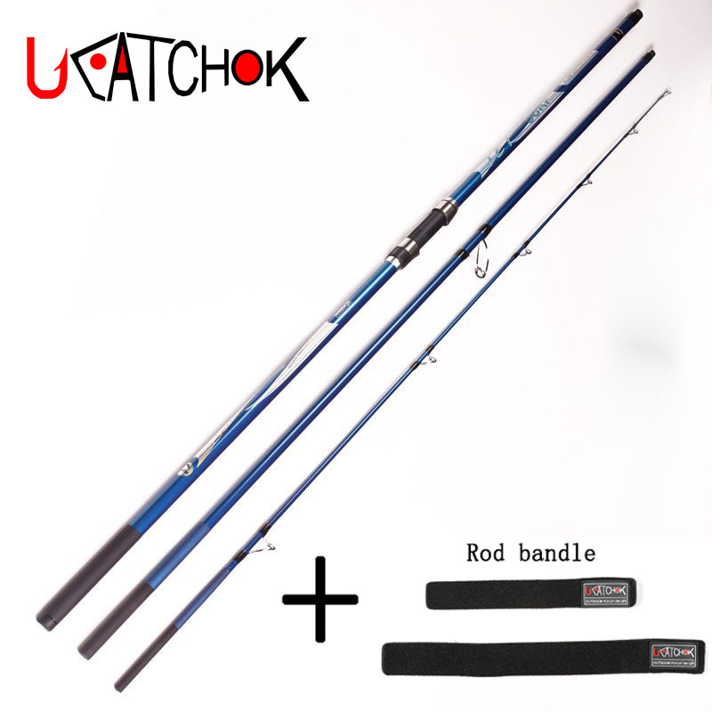 UCOK 1pcs/pack 4.2m 40T high Carbon far shot rod super hard 3 sections anchor rod SURF rod beach long distance throw casting rod 1pcs pack 4 5m telescopic rod long casting far shot fishing pole high carbon rod hard body strong sea rod anchor hook rod tackle