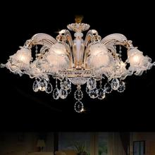 Милан стекло цветок кристалл Освещение люстра Led Вход золото Никель люстра shopcase Бар ясно кристалл K9 свет Luminaria