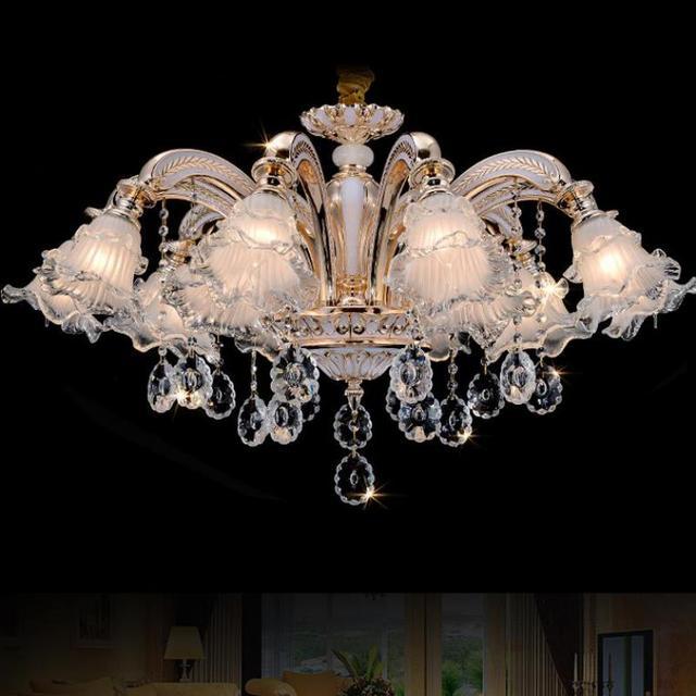 Surface glass flower crystal Lighting ceiling chandelier Led Entrance gold chandelier shopcase Bar K9 crystal light Luminaria