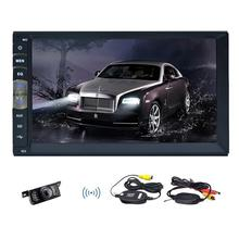 New 7 inch 2 DIN in Dash Car NO CD DVD Player Touch Screen Radio Stereo Bluetooth Steering wheel control with Linux System