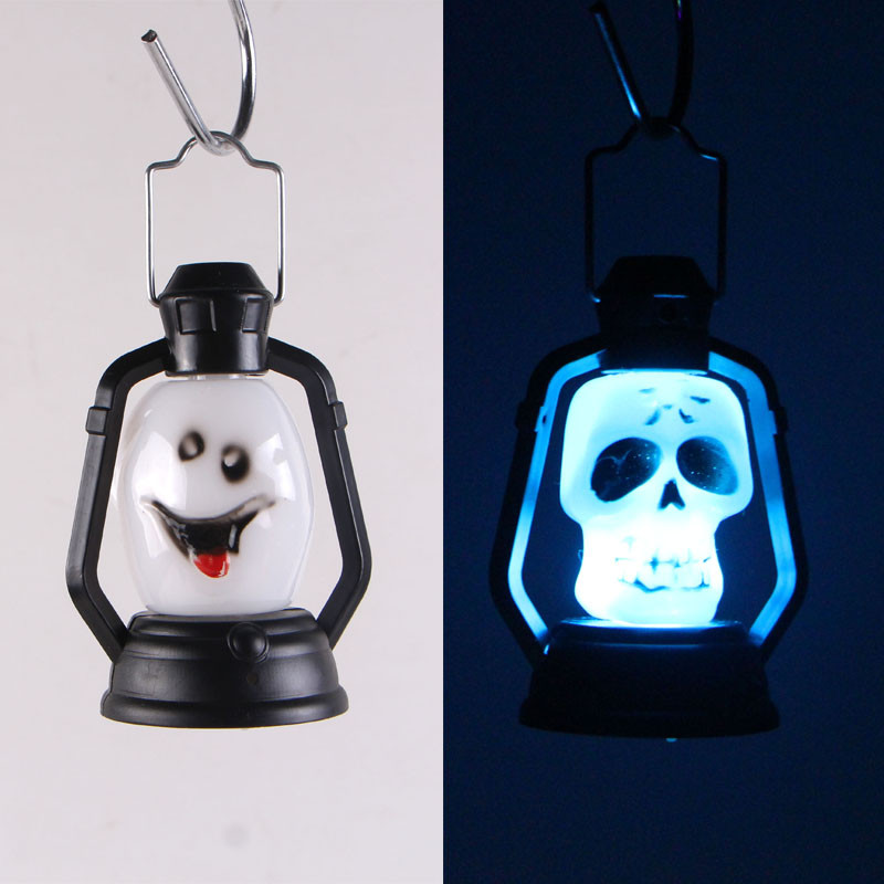 10pcs Halloween Barn Lantern Toy Pumpkin And Skull