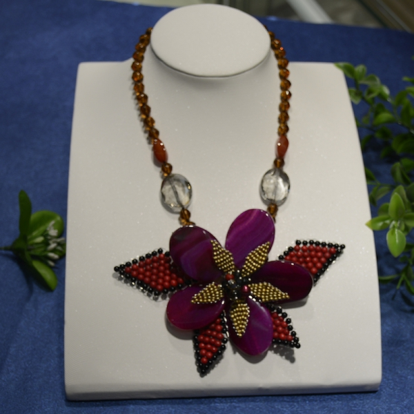2017 Hot Sale Collares Necklaces & Pendants Maxi Necklace Fashion Crystal Jewelry Handmade Hot Butterfly Agat e Flower Necklace 60pcs lot 2017 retro key dry flower necklace natural wheat flower glass ball pendant jewelry accessory butterfly necklaces