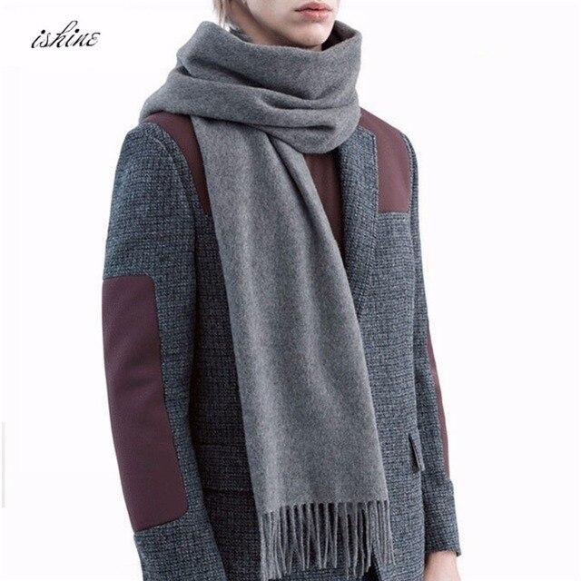 7b164d29a2c5 Mode De Luxe Écharpe En Cachemire Marque Femmes Gland Foulards D hiver  Solide Laine Chaud