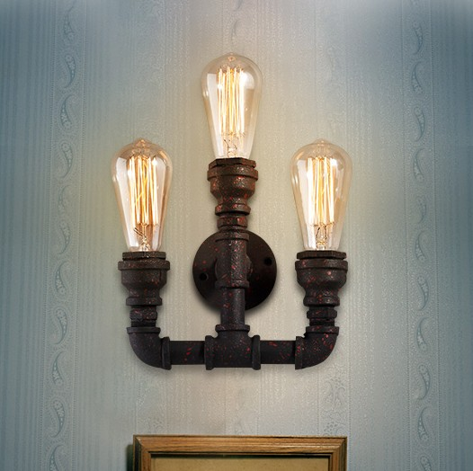Loft Style Industrial Water Pipe Lamp Edison Wall Sconce Iron Art Vintage Wall Light Fixtures For Home Lighting Arandela waveshare coreep3c5 ep3c5 altera cyclone iii chip ep3c5e144c8n fpga evaluation development core board with full io expanders