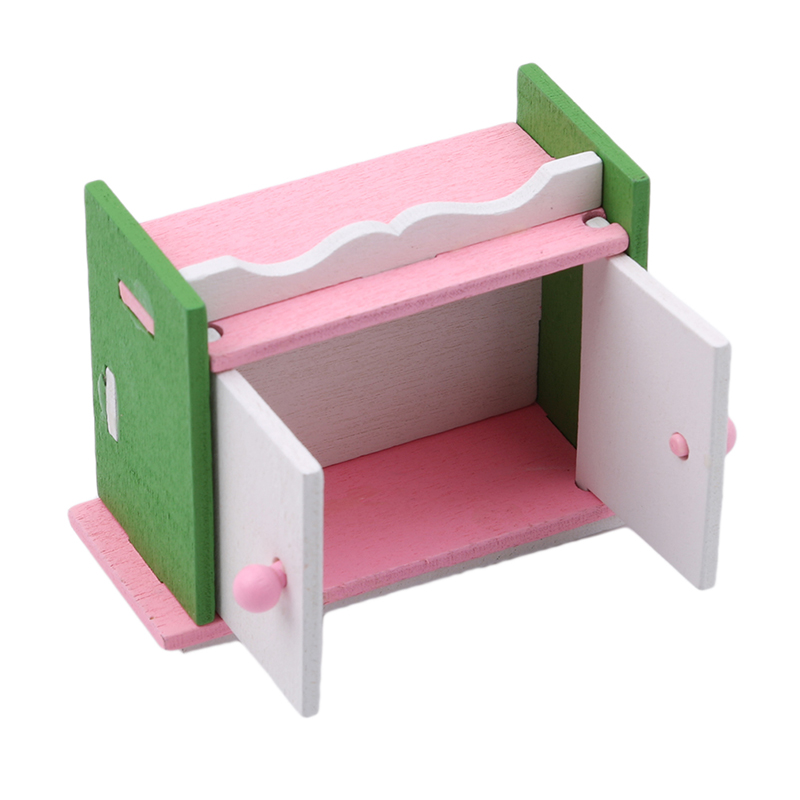 1 set Baby Wooden Dollhouse Furniture Dolls House Miniature Child Play Toys Gifts #11