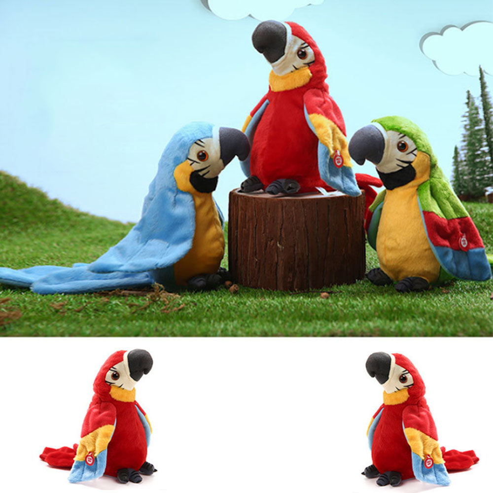Funny Sound Record Plush  Electronic Pets Talking Parrot Toys Parrot Christmas Gift For Kids Children Educational Toys