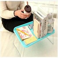 Envío libre plástico ligero escritorio portátil Ordenador de mesa soporte de escritorio para cama muebles de oficina plegable pequeño escritorio