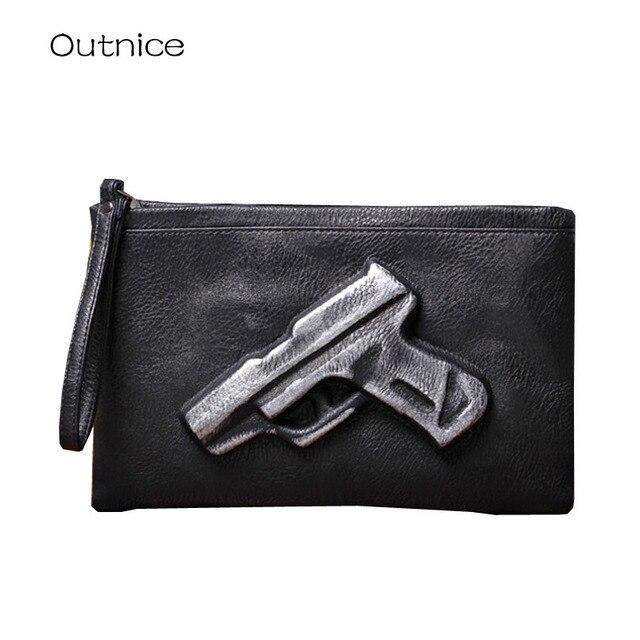 1c1d4375a5 Frizione giorno personalità violenta pistola sacchetto 3D pistola borse e  borsa crossbody bag in pelle PU
