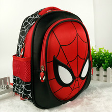 Hot 3D stereo Children s Boy spider man Cute New School Bag Boys Backpack Kids Children
