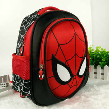 Hot 3D stereo Children's  Boy spider man Cute New  School Bag Boys Backpack Kids Children Cartoon School Bags Backpacks Baby - DISCOUNT ITEM  15% OFF All Category