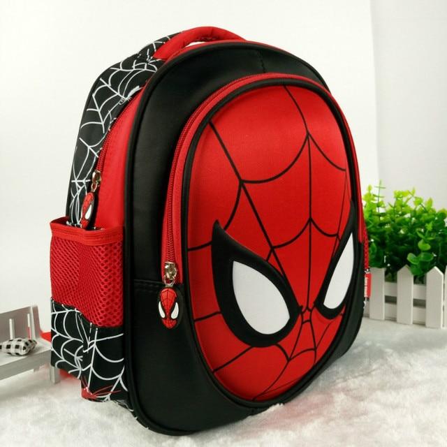 22ea6366dd Hot 3D stereo Children s Boy spider man Cute New School Bag Boys Backpack  Kids Children Cartoon