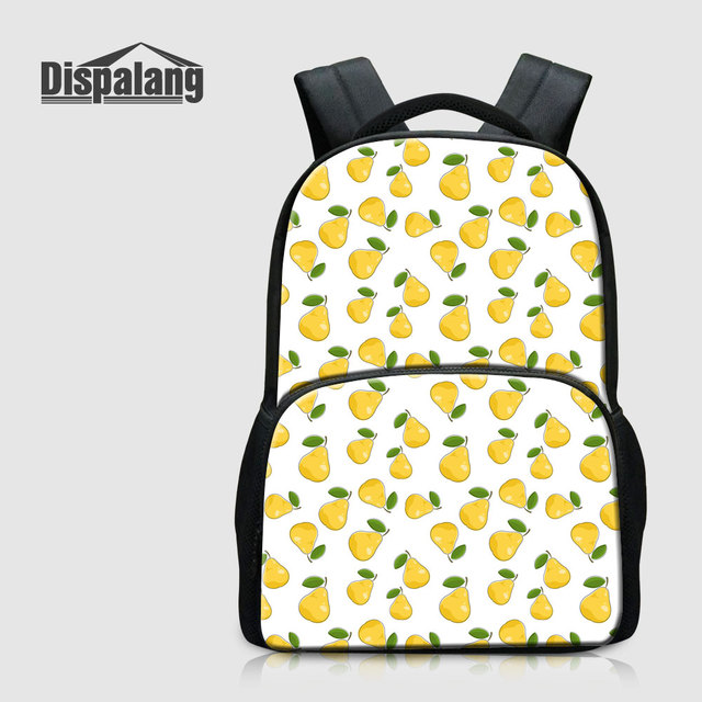 Dispalang Cute Pear Pattern Backpacks For Girls Fruit Laptop Notebook  Rucksack For College Students Fashion School Bags Bookbags ed371034bbd73