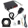 Универсальный 12 В 200 Вт 8 звуковых динамиков  автомобильная предупреждающая сигнализация  Полицейская пожарная сирена  рог PA с микрофоном