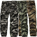 Mens Cargo Overalls Pants Military Technical  Combat Camouflage Casual Trousers