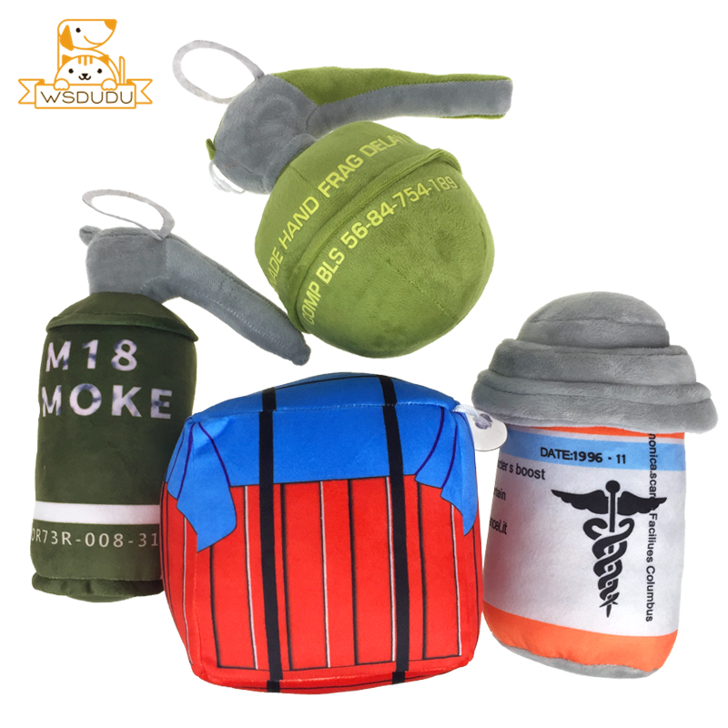 PUBG Airdrop Bags Painkillers Plush Stuffed Toys Mini Pain Killer Dolls Playerunknown's Battlegrounds Game Cute Soft Decor Gifts