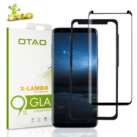 OTAO Case Friendly For Samsung Galaxy S8 Plus 3D Curved Full Cover Tempered Glass Screen Protector