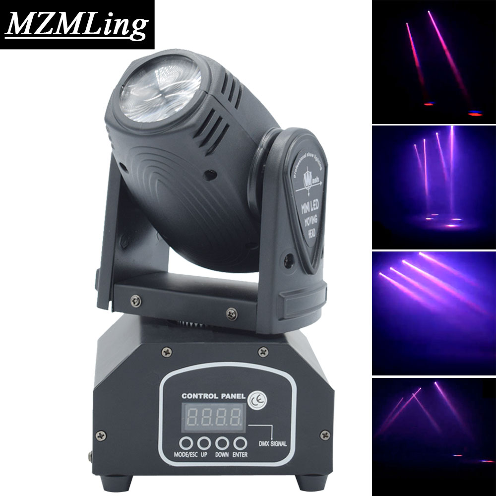10W CREE RGB Mini Beam Light DMX512 Moving Head Light Professional DJ /Bar /Party /Show /Stage Light LED Stage Machine