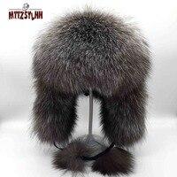 MTTZSYLHH children's aviator hat female autumn and winter fur hat warmth thickening new children's fox fur pilot hat