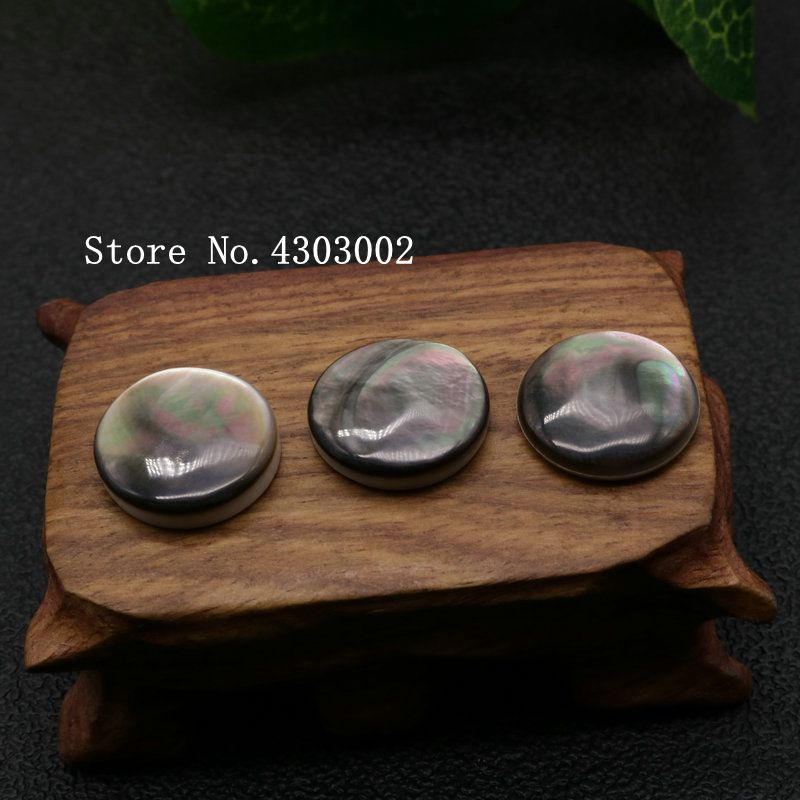 100pcs lot 18mm Natural Black Round Cabochon Mother of Pearl shell for DIY Jewelry Round Cabochon