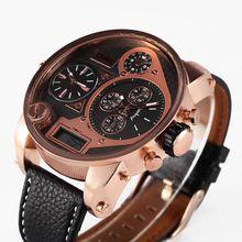 2016 Nueva OULM famosa Marca Tag Diseñador Japón Movt Militar dz Mens reloj Deportivo Horas Montre Homme Led Vintage Rose Reloj de Oro