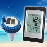 Wireless Solar Power Floating Pool Thermometer Digital Swimming Pool SPA Floating Thermometer FG66