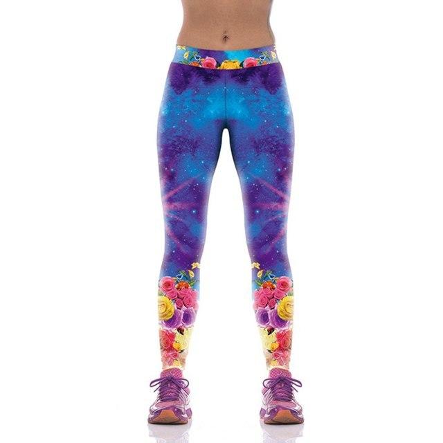 #1226 2017 3D напечатаны красочные Тренировки леггинсы женская Мода legins женщины Удобная Стретч-Панк-рок legins