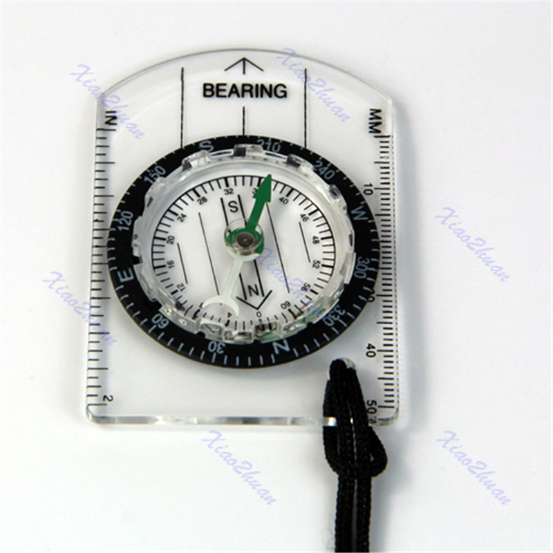 Measure Ruler Baseplate Ruler Map Scale Camping Hiking Walking Survival Compass Emergency