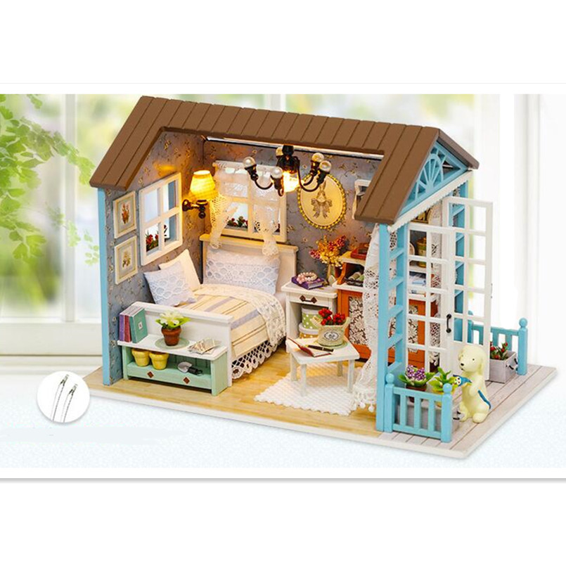forest times doll house diy miniature 3d wooden puzzle. Black Bedroom Furniture Sets. Home Design Ideas