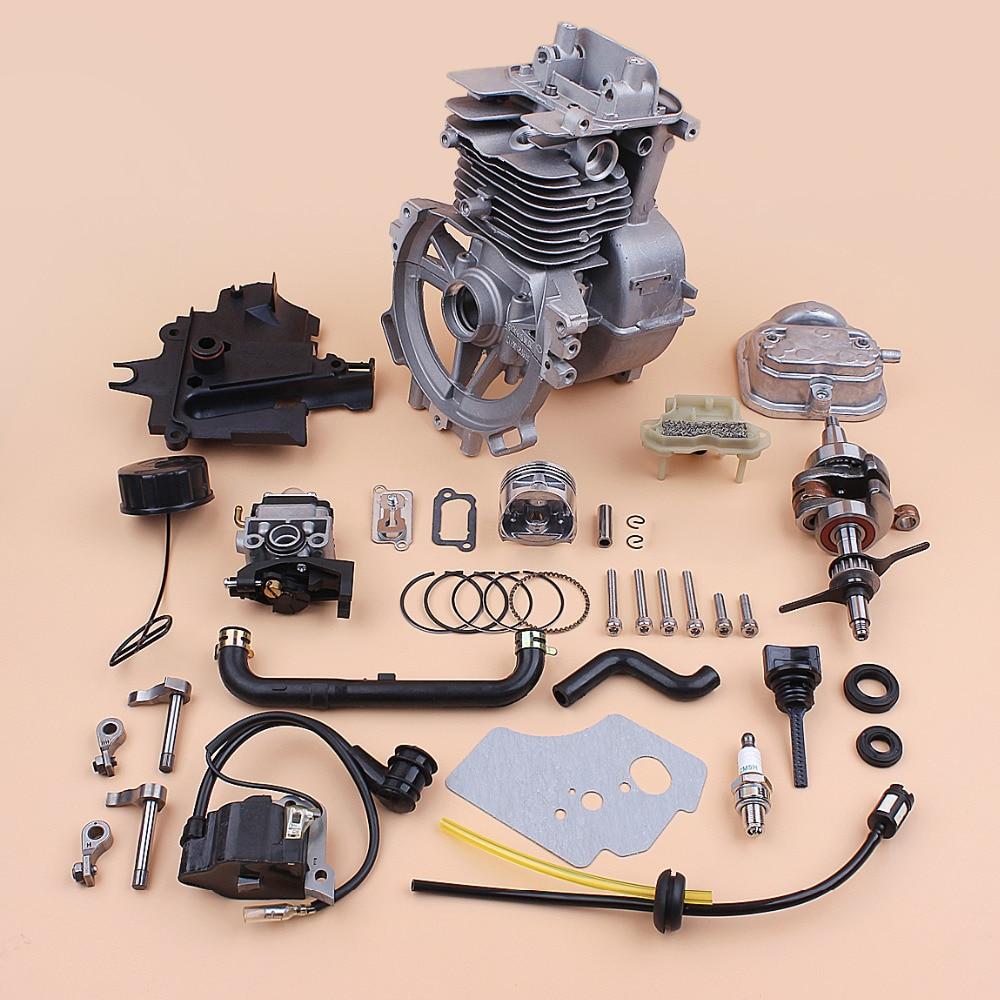 Tools : 39mm Crankcase Cylinder Piston Crankshaft Carburetor Rebuild Kit For HONDA GX35 GX35NT Small Gas Engine Motor Trimmer Parts