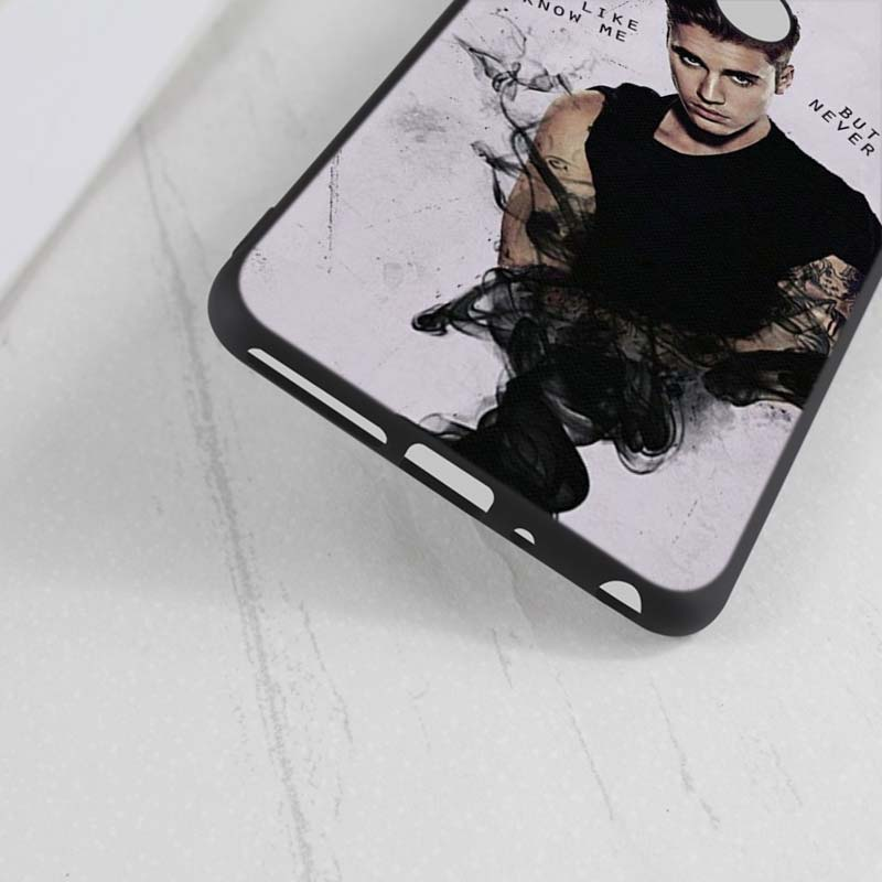 For Huawei Honor Mate 7C 7A 8 8X 9 9N 10 20 Nova 3 3e 3i 4 Pro Lite Black Silicon Phone Case Fashion justin bieber Style in Fitted Cases from Cellphones Telecommunications