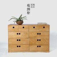 Folk Art Home armazenamento de gaveta de madeira sólida armários de madeira armários gavetas de armazenamento moderno cabeceira quarto minimalista