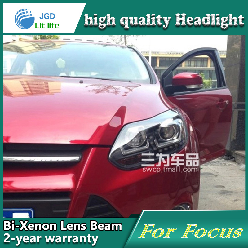 Car Styling Head Lamp case for Ford Focus 2012 Headlights LED Headlight DRL Lens Double Beam Bi-Xenon HID car Accessories