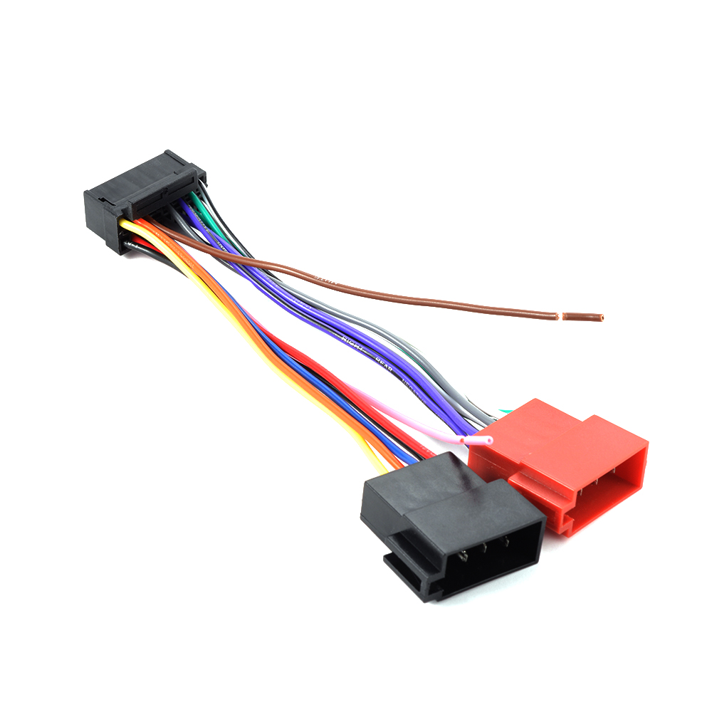 hight resolution of 16 pin iso wiring harness connector adaptor loom for sony car stereosony wiring harness 15