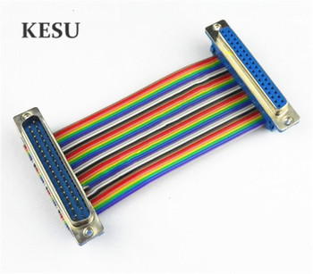 1 unids/lote 37 Pin DB37 Cable plano de la cinta 37-Pin macho a hembra M-M F-F Cable adaptador de conector DIDC 30cm