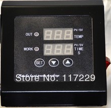New design Double Display110V/ 220v Mug/Plate/T-shirt/cap/Cellphone cases  heat press digital Temperature control box controller