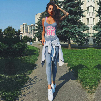 One Piece Sexy Gym Fitness Clothing Suit Elastic Fitness Tights Running Tight Jumpsuits Sports Yoga Sets Letter Princess costume plus size women in overalls