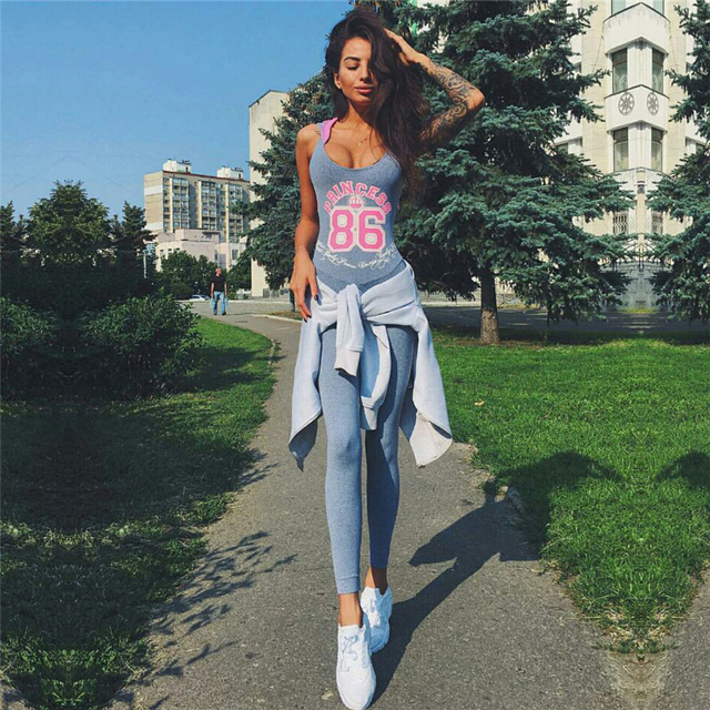 88a463391f1 Hot Sexy Girls Backless Playsuit Fitness Tights Jumpsuits Costume Yoga  Sport Suit Gym Tracksuit For Women One Piece Bodysuit