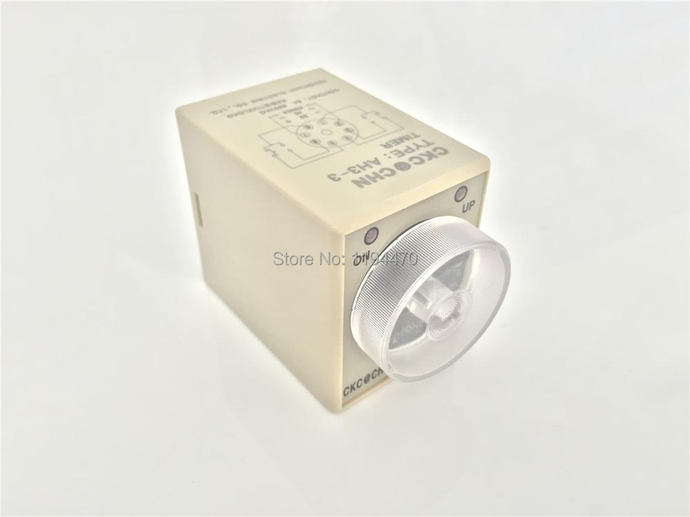 цена на 1pcs/Lot AH3-3 DC 12V 60S Power On Delay Timer Time Relay 12VDC 60sec 0-60 second  8 Pins