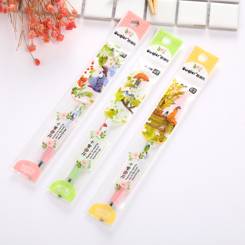 20Pcs/Lot Creative Kawaii Sweet Flash Cartridge Gel Pen Refill Fruit Cute Christmas Gift Cartoon Feather Flower Stationery Store
