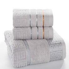 Клетчатый набор полотенец из 100% хлопка для ванной комнаты для взрослых 650 г 3 шт./компл. комплект полотенец Бесплатная доставка