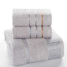 Plaid 100% Katoenen Gezicht Hand Badhanddoek Set voor Volwassen Badkamer 650g 3 stks/set Handdoek Sets Freeshipping