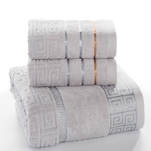Image 1 - Plaid 100% Katoenen Gezicht Hand Badhanddoek Set voor Volwassen Badkamer 650g 3 stks/set Handdoek Sets Freeshipping
