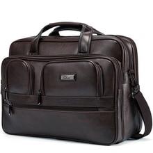 Мужской портфель BOSTANTEN, кожаная сумка, 16,5 Дюймов, сумка для ноутбука, большая вместительность, для путешествий, деловая сумка на плечо, мужской портфель для ноутбука