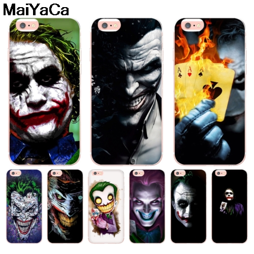 New Fashion Maiyaca Poker Joker Novelty Fundas For Iphone 4s Se 5c 5s 6 6s 7 8 Plus X Xr Xs Max Black Soft Shell Phone Case Rubber Silicone Half-wrapped Case Cellphones & Telecommunications