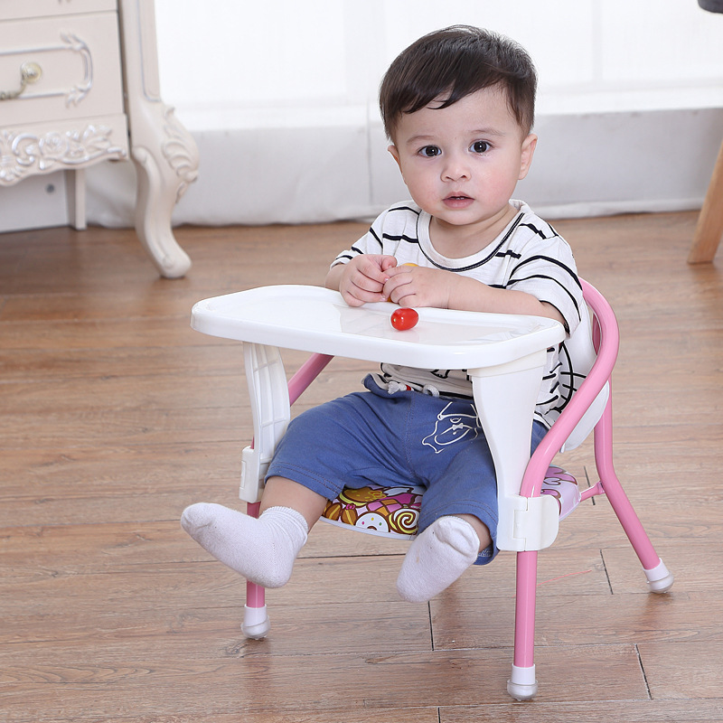Children's Dining Chair With Plate Baby Eating Table Baby Stool Child Dining Chair Back