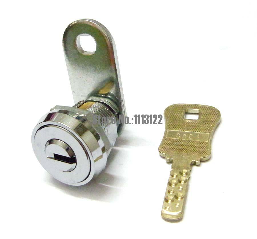 Flat Key Cam Lock For Arcade Machine Cash Door Safe Lock For Game Machine Lock Vending Machine Lock L17mm 1 Pc